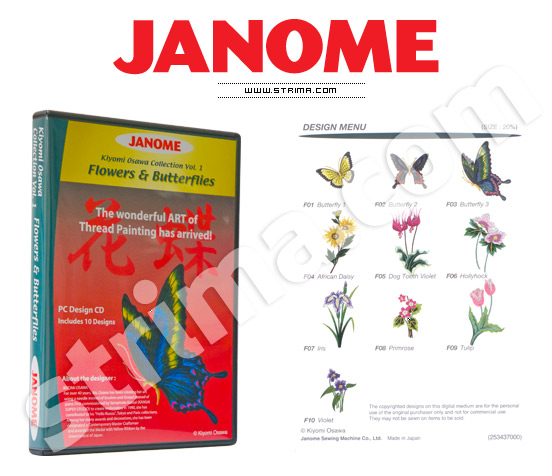JANOME EMBROIDERY COLLECTION vol. 1-3 - Janome embroidery collection, 3 CD set