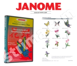 Коллекция вышивок JANOME, Часть 1 - цветы - JANOME EMBROIDERY COLLECTION - FLOWERS