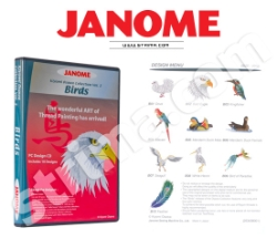 Коллекция вышивок JANOME, Часть 2 - птицы - JANOME EMBROIDERY COLLECTION - BIRDS