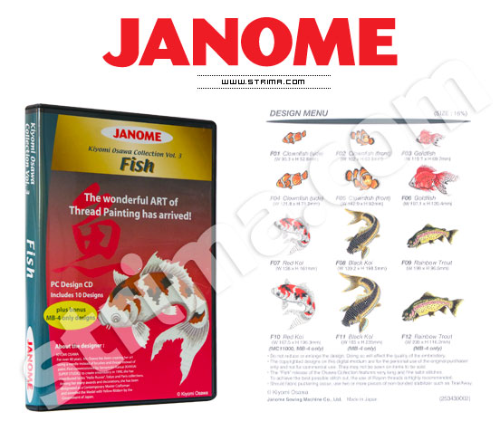 Коллекция вышивок JANOME, Часть 3 - рыбы - JANOME EMBROIDERY COLLECTION - FISH