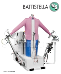Steaming dummy with steam generator for shirts, jackets, coats - BATTISTELLA PEGASO/A