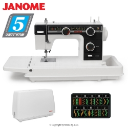 Multifunctional sewing machine with suitcase - JANOME 393 OLD SCHOOL
