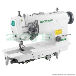 Zoje two needle lockstitch machine for medium and heavy materials, split needles, large hooks - machine head