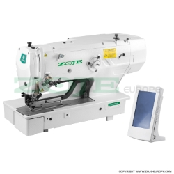 Zoje electronic buttonhole machine with clamp for buttonholes up to 120 mm length - machine head