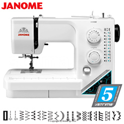 Multifunctional sewing machine, 19 stitch programs