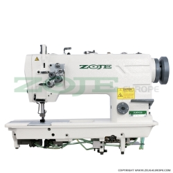 Zoje two needle lockstitch machine for light and medium materials, with energy-saving AC Servo TP550 motor - complete sewing machine