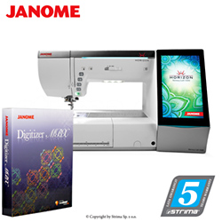 Computerized sewing and embroidering machine - promotional set with JANOME DIGITIZER JR software