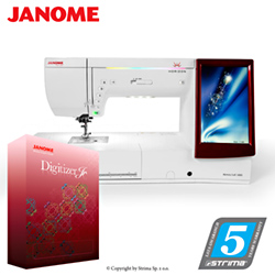 Computerized sewing and embroidering machine - promotional set with JANOME DIGITIZER JR software - JANOME MEMORY CRAFT 14000 HORIZON JR SET