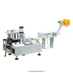Automatic, multifunction cold knife cutting machine (right angle) with automatic tape feeding