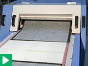 Fusing interlining - continuous fusing Oshima machines