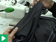 Blindstitching trousers leg with single blind stitch Maier